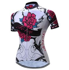 1e8abc434 TELEYI Women s Short Sleeve Sport Cycling Bike Jersey  Sz XS-4XL