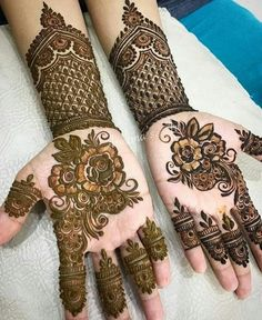 1000 Simple and Easy Henna Tattoo Designs for Brides on Wedding. Latest collection henna tattoo designs with various pattern and style for brides on wedding Henna Hand Designs, Modern Henna Designs, Latest Henna Designs, New Mehndi Designs, Henna Tattoo Designs, Mehandi Designs, Tattoo Ideas, Cute Henna Tattoos, Simple Henna Tattoo