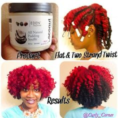 Gorgeous flat / two strand twist out! Courtesy of naturallyshesdope on Instagram