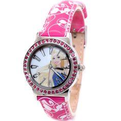 KW073A Új Magenta sáv forduló PNP Shiny Silver Watchcase Gyermek Watch