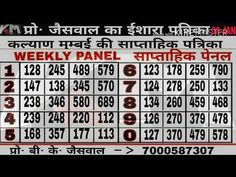 Kalyan Himmat Chart Dilwala Kalyan Chart Main Mumbai, Lottery Results, Today Tips, Play Online, How To Memorize Things, Chart, Pdf, Night, Medium
