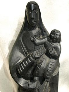 Hand Carved Wooden GUATEMALAN MARIA MADONNA by MiguelsTreasures