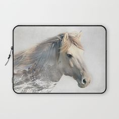 Snow Horse Laptop Sleeve
