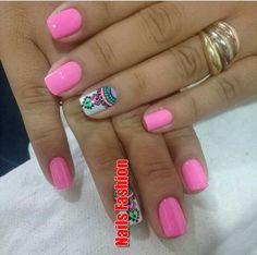 Toe Nail Art, Toe Nails, Pink Nails, Gorgeous Nails, Pretty Nails, Manicure And Pedicure, Mani Pedi, Beach Nail Art, Simple Nails
