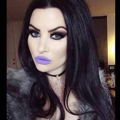 "#TBT to @harperleighhollywood wearing ""Potion #9"" Lipstick  #pastelgoth…"