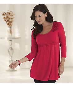 Sweet Ruby Babydoll Tunic from Monroe and Main. All soft and feminine, with flattering empire waist. From $49.95. See more about Flattering Garment Styles in our Fit For You Guide: www.monroeandmain.com/fit