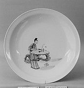 Dish with Woman and Rock