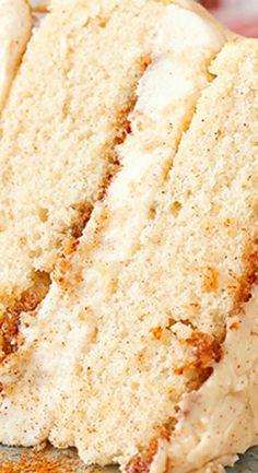 Cinnamon Roll Layer Cake