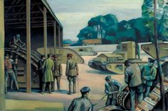 The Experimental Depot for Tanks, Dollis Hill, North-West London by William Bernard Adeney. Date painted: 1918.