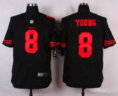 Men's San Francisco 49ers #8 Steve Young Black Retired Player 2015 NFL Nike…
