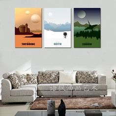 Original HD Canvas Print home decor wall art painting, Star Wars (Unframed) 3PC