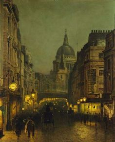 Against the brilliant canopy of dusk, the dome of St. Paul's was bleak and gray, flanked in silhouette by the cathedral's smaller spire. Traffic became a crush as she made her way along Ludgate Hill, reaching the circus. Omnibuses, carriages, pigs, cattle, and drays fought for space on the road, while hawkers, clerks, newsboys, homemakers, and pickpockets fought for space on the walkways. A perfect place to become lost.