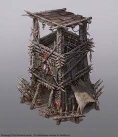 ArtStation - Spellforce 3 Orc buildings, Vladimir Krisetskiy
