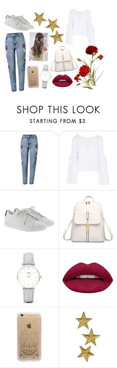 """""""Polyvorefashion"""" by maja-28-06 ❤ liked on Polyvore featuring WithChic, Free People, Yves Saint Laurent, CLUSE, Huda Beauty, Rifle Paper Co and romantic"""