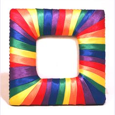 Rainbow Ribbon Picture Frame