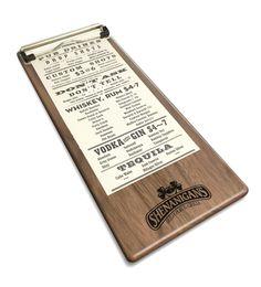 Wood Menu Plank Clipboard