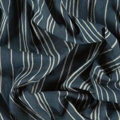 Denim lys blå med hvite striper 4,5oz - STOFF & STIL
