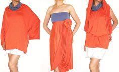 Convertible Wrap Infinity Multi way Dress Tunic Skirt by Loretari