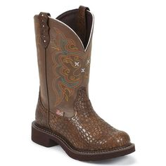 Justin Gypsy Women's Pearl Print Western Boots