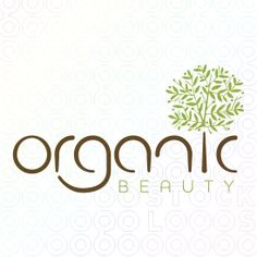 This logo for 'Organic Beauty' sticks straight with the organic that is in the name. It uses a tree, which is apart of nature, and the typography looks almost like wood. Logos, Green Logo, Dental Logo, Tree Logos, Logo Restaurant, Restaurant Logo Design, Organic Logo, Logo Design, Design