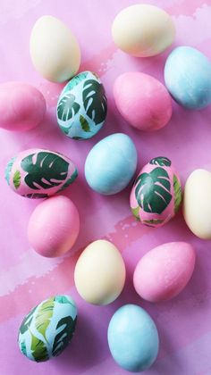 Bring all the spring vibes to your home with this set of DIY tropical Easter eggs.