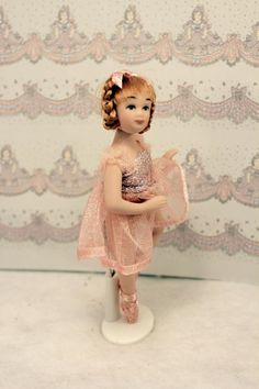 Miniature ballerina doll