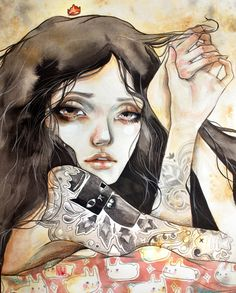 """""""Ludus"""" Watercolor + Colored pencils  One of Tokwa Penaflorida's artworks for Bloom Arts Festival. :)"""
