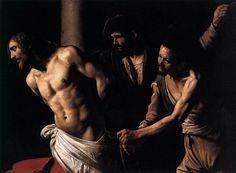 Le Caravage, Le Christ à la colonne, 1607, huile sur toile, 135x175 cm, Rouen, Musée des Beaux-Arts