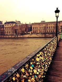 THE AMAZING WORLD: Love lock bridge, Paris France.  Do you want your name here?