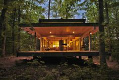 Travis Price Architects have designed the Hayes Residence, a home located in Berkeley Springs, West Virginia.