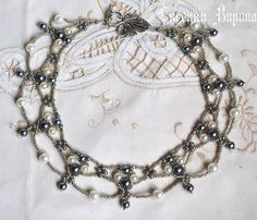 Free pattern for necklace Margo