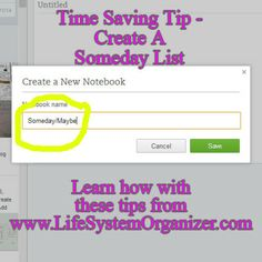 Time Management Tip Tuesday – Create a Someday List