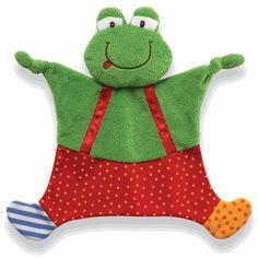 Sock Hop Crinkle Buddy Frog Ribbitz
