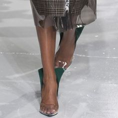 Glossy Sheer heels at Calvin Klein Collection Fall Winter 2017 NYFW.