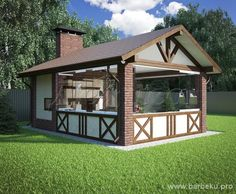 Super outdoor patio furniture with fireplace Ideas Backyard Pavilion, Backyard Patio, Gazebos, Village House Design, Outdoor Buildings, Small Tiny House, Outdoor Furniture Plans, Pergola Attached To House, Wooden Pergola