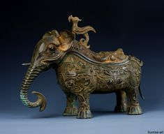 Shang Bronze Elephant. Shang Artwork Of China During The Dominion Of Shang Dynasty (1600BC-1050BC)    Primitive Artwork of China, most widely known for the pottery, experienced a change in the component the artisans utilized to create objects in 1600 BC, when the Shang Dynasty, referred to as the First Chinese Society, came into being. The Shang dynasty ruled China from 1600 BC to 1050 BC.