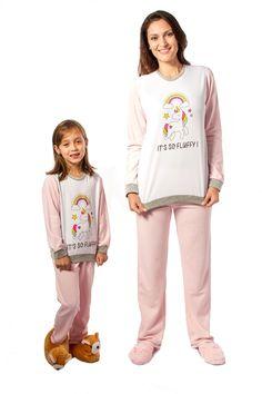 Pijama Flanelado Kit Mãe e Filha Fem.