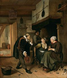 The Athenaeum - A Gallant Old Man Courting a Young Woman (Jan Steen - )