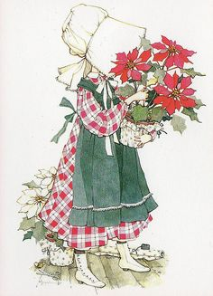 Holly Hobbie Christmas card.