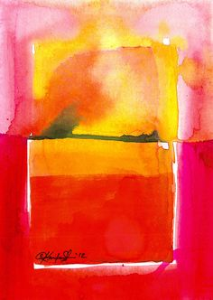 Abstraction Series . 208 ... Original abstract watercolor art ooak painting by Kathy Morton Stanion  EBSQ