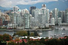 Vancouver Canada ~ as seen at: http://www.bigskyline.com/Vancouver-British-Columbia-city-skyline-pic-in-Canada.html