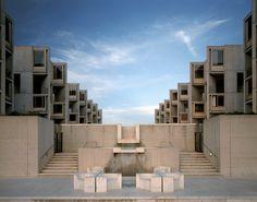 Louis Khan - Salk Institute for biological studies, La Jolla CA 1965. Via Todd Eberle.