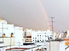 Rainbow!!! Happening right now   #rainbow #palmademallorca #mallorca #igersmallorca #igersspain #igersbalears #majorca #regenbogen #skyline #architecture #urban #city #highrise #germanblogger #blogger_de #spanishblogger #arcoiris #buildings #edificios #lifestyleblogger