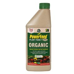 Bunnings - PowerFeed 1L Concentrate Organic Liquid Fertiliser I/N 2990053 | $12.90 Organic Liquid Fertilizer, Cleaning Supplies, Cleaning Agent
