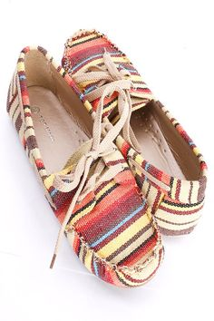 Beachy style, canvas mocs. $7.99  lots of different styles and colors