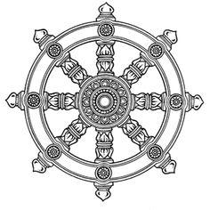 Dharmawiel, wiel met 8 spaken #boeddhisme