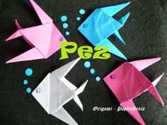 Origami - Papiroflexia. Tutorial: Pez, dificultad media Paper Toys, Paper Crafts, Origami Fish, Creations, Gift Wrapping, Channel, Origami Easy, Origami Animals, Gift Boxes