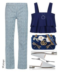 """""""~It's been a long time since I've felt the way that I do now~"""" by maloops ❤ liked on Polyvore featuring Tory Burch, Barneys New York, Gucci, Roberto Coin, Blue, CasualChic and MyPowerLook"""