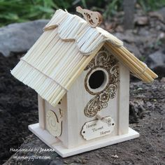 Five crafty bloggers show us different ways to decorate a birdhouse in the Ocean Finance 'House to Home' Competition.