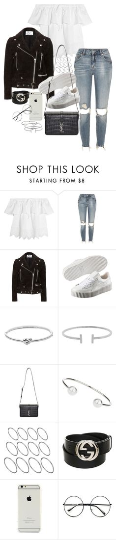 """Unbenannt #1639"" by tyra482 ❤ liked on Polyvore featuring Madewell, River Island, Acne Studios, Puma, Michael Kors, Humble Chic, Yves Saint Laurent, Topshop, ASOS and Gucci"